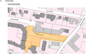 Maskentragepflicht in Ismaning: Korbinianplatz